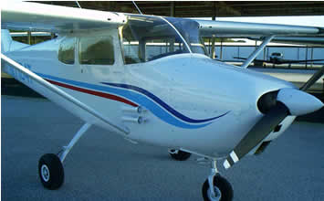 cessna 172 with new paint